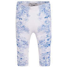 Mayoral Baby Girls Blue/White Floral Printed Leggings