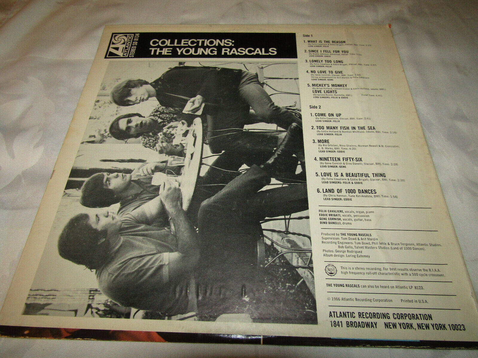 The Young Rascals Collections Atlantic SD-8134 Stereo Vinyl Record LP image 2
