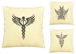 Religion Symbols Print Cotton Throw Pillows Cover Cushion Case VPLC_03 - €9,15 EUR