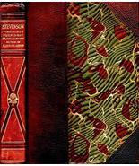 1890s FINE LEATHER STEVENSON JEKYLL & HYDE HORROR CLASSIC ILLUSTRATED GI... - $127.71