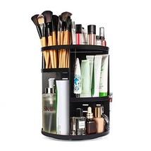 sanipoe 360 Rotating Makeup Organizer, DIY Adjustable Makeup Carousel Sp... - $22.54