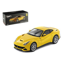 Ferrari F12 Berlinetta Yellow Elite Edition 1/43 Diecast Car Model by Ho... - $45.81