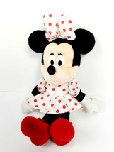 Applause Disney Minnie Mouse Classic Polka Dot Dress Stuffed Plush Vinta... - $17.77