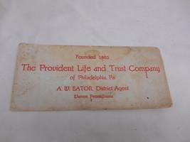 Antique PROVDENT LIFE & TRUST COMPANY INK BLOTTER ADVERTISING Philadelph... - $19.79