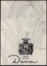 Dana Ambush Perfume Bottle 1956 Eugene Karlin Print AD - $14.99