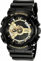 New Casio G-Shock Analog-Digital Black Resin Strap Mens Watch GA110GB-1A - $129.95