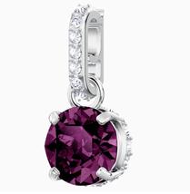 Swarovski Crystal Remix Collection Charm, February Purple Rhodium Plated 5437323 - $34.58