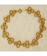 Avon Gilded Lace BRACELET Gold Tone Florettes Shamrocks Clover NEW w/o Box - $19.75