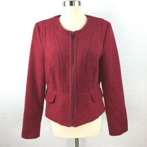 Express Women Size Large Zipped Red Jacket - $30.58
