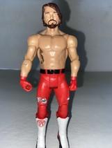 WWE Wrestling AJ Styles Mattel WWF Action Figure #78 Mattel 2017  - $7.92