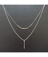 Layered Multi-Strand Necklaces Matinee Necklace Stick Pendant Women Fash... - $21.49