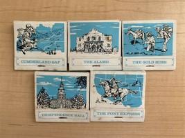 Set of 5 Vintage & Rare USA Historical Event Matchbooks  - $11.88
