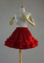 Burgundy Ballerina Tulle Skirt High Waisted Women Girl Ballet Skirt image 8