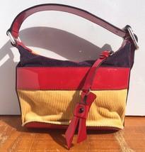Gorgeous Marc Jacobs Patent Leather & Thick Corduroy Baguette Handbag Cl... - ₨6,396.30 INR