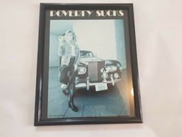 Vintage Poverty Suck Picture Black n White From 70's for a Man Cave with... - $29.70