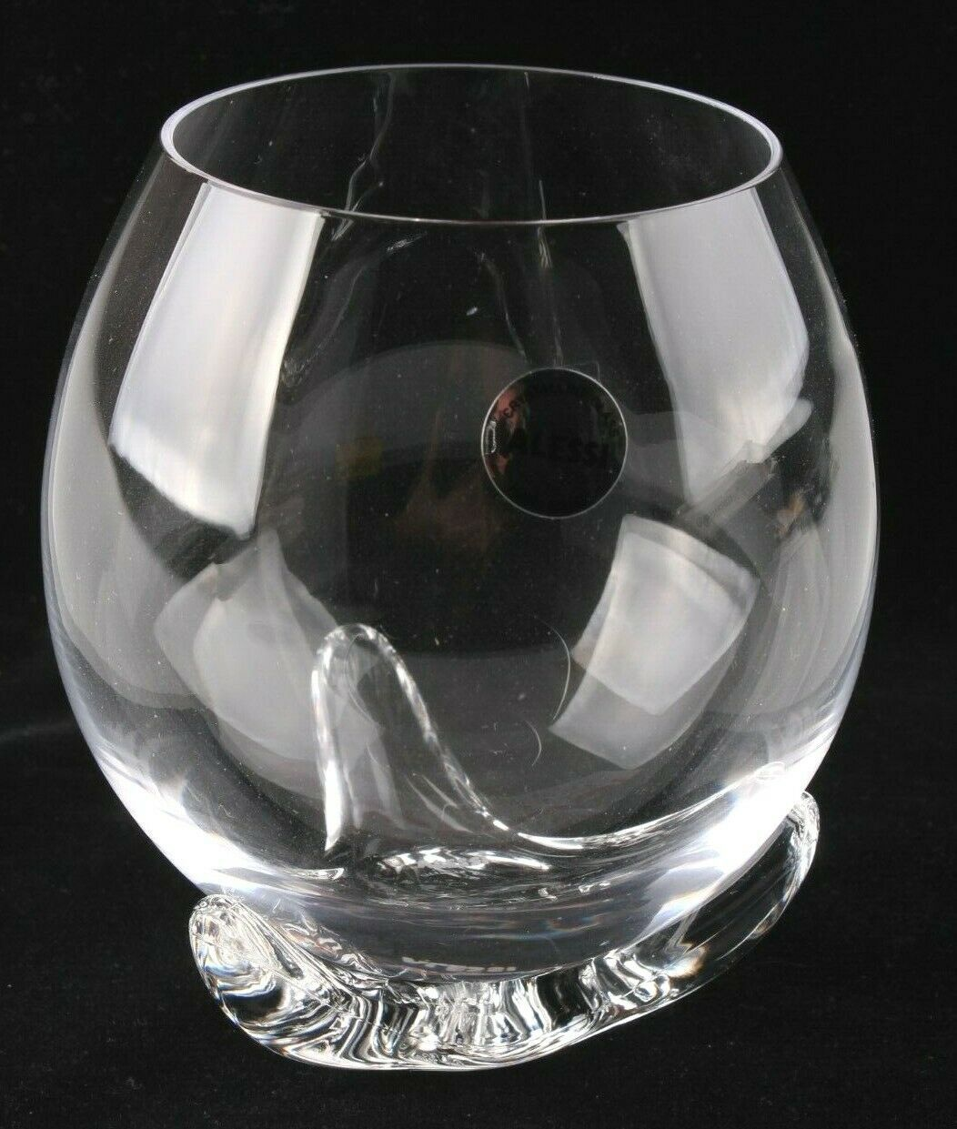 Lot of 2 Alessi Bettina Crystalline White Wine or Water Glasses w PMMA Support