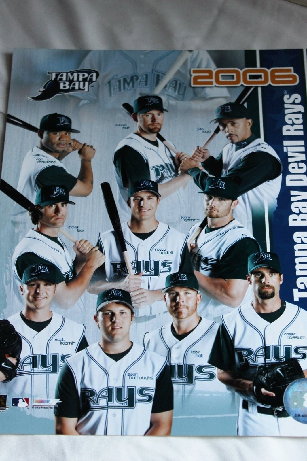 Tampa Bay Rays 2006 Team Photo 8x10 Color - Glossy image 2