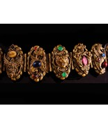 FABULOUS Vintage Dragon Bracelet - Baroque  Zeus - cherub jeweled Victor... - $675.00