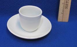 Vintage J & G Meakin Hanley White Ceramic Miniature Mini Espresso Cup & Saucer - $10.88