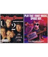 VINTAGE 1988 Rolling Stone Magazine #521 U2 w/ Spuds Mackenzie Bud ad on... - $39.59