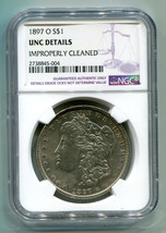 1897-O MORGAN SILVER DOLLAR NGC UNC DETAIL IMPROPERLY CLEANED NICE LOOKI... - $795.00