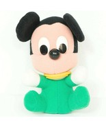 "Disney Mickey Mouse Baby Plush 5"" VTG Small Green Stuffed Animal - $13.72"