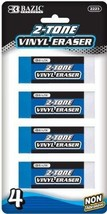 Bazic Two-Tone Vinyl Eraser - 4/Pack 72 pcs SKU# 311302MA - $140.76