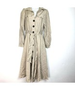 Monsoon beige button down belted pockets dress Size 4 - $34.64