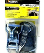 Keeper 05516  High Tension Ratchet Tie Down Strap Gray 1000lbs. 16ft. x ... - $15.46