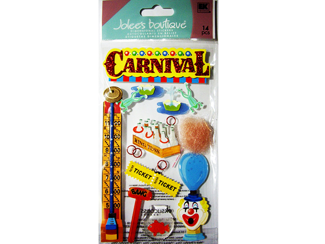 Jolee's Boutique Carnival Games Dimensional Stickers #50-50280