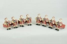 8 Resin Holiday Christmas Santa Claus Napkin Rings Holders - $18.87