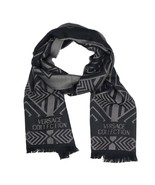 Versace Collection Black & Grey Mens Scarf ISC40R1WIT02856I4019 - £95.18 GBP