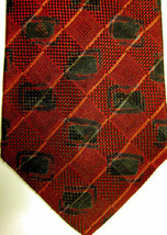 NEW Ermenegildo Zegna Dark Red With Black Silk Tie Italy - $44.71