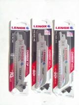 """Lot of New Lenox  - Carbide Metal Reciprocating Saw Blades 3 3pks of 6"""" 8tpi - $53.25"""
