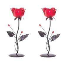 2 ROMANTIC ROSE VOTIVE HOLDERS - $34.95