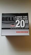 """Bell 4 Inner Tubes Value Pack 20"""" x 1.75"""" - 2.25 Mountain BMX Kids Bike New - $12.34"""