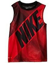 Nike Boys Size 4 Block Print Dri FIT Muscle Tank Top University Red New ... - $13.85