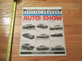 Minneapolis Auto Show 1983 program Car truck Dealer Showroom Sales Brochure - $9.99