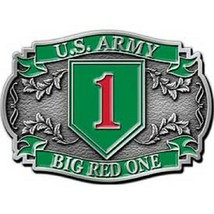United States American Army 1st Division Belt Buckle - $18.76