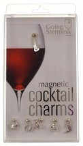 Going Stemless Urban Cowboy Wine Charms Cocktail Magnetic Set 6 Drink Ho... - $39.99