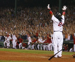Manny Ramirez Red Sox Walk Off Home Run 16X20 Color Baseball Memorabilia Photo - $29.95