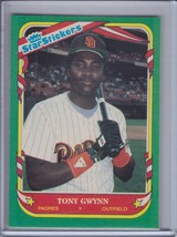 TONY GWYNN 1987 Fleer Star Stickers #52 (C357) - $2.25