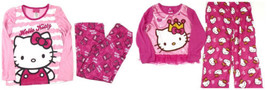 Girl's 4-8 Hello Kitty Pajamas Sleepwear 2-Piece Sleep Set Licensed NEW