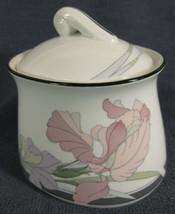 Noritake Cafe Du Soir 9091 Sugar Bowl with Lid New Decade Porcelain Floral - $17.95