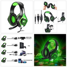 Gaming Headset PS4 Xbox One PC Headphone W/ Microphone LED Light PlaySta... - $27.81