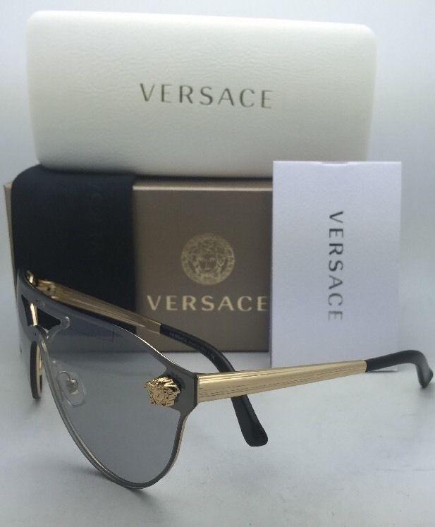 25c86caf71 New VERSACE Sunglasses VE 2161 1002 6G Gold   Black Frames w ...