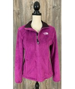 The North Face Fleece Jacket Small Pink Sherpa Full Zip Pockets 100%Poly... - $27.71
