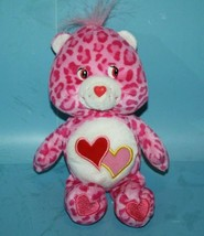 "Care Bears PINK LEOPARD CHEETAH LOVE A LOT BEAR 9"" Plush Stuffed Animal Toy - $19.34"