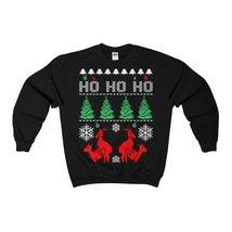 ho ho ho ugly sweatshirt reindeer christmas - $29.95+