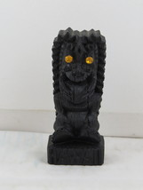 Vintage Tiki Figurine - Yellow Jeweled Eye Ku by HIP - Made with Lava - $39.00